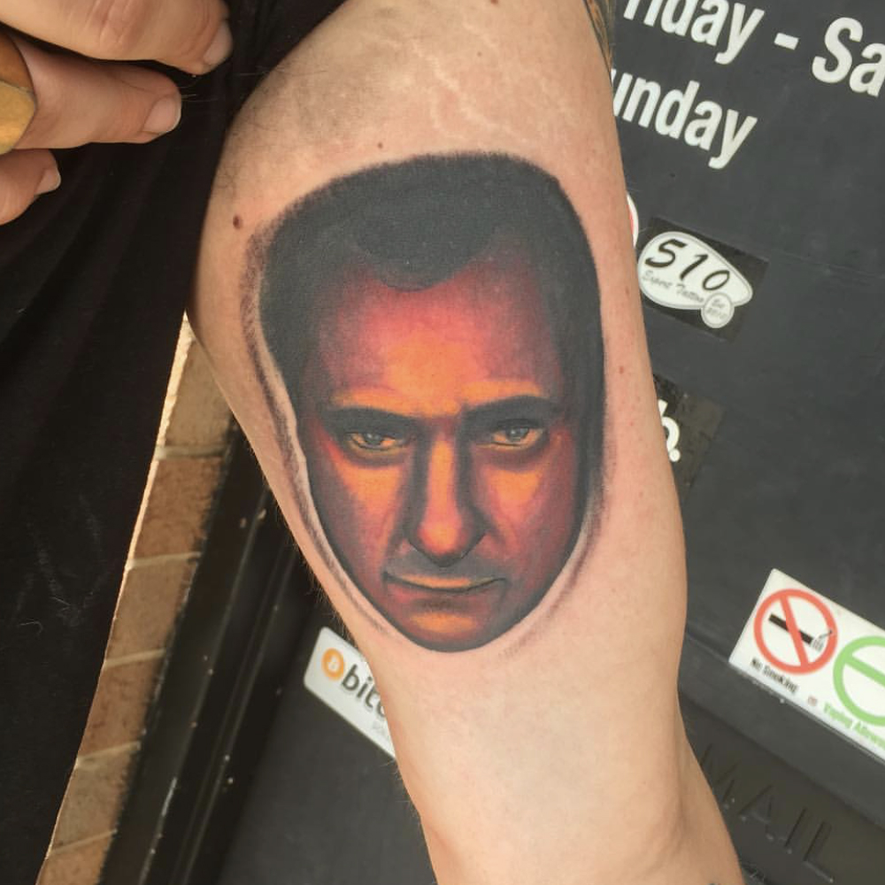 Johnny Cash portrait tattoo