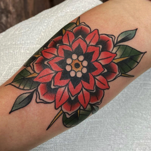 Mandala flower tattoos